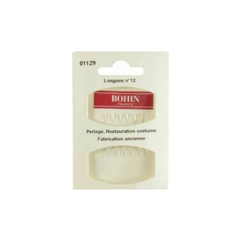 Bohin, Aghi Fini per Riparazione Costumi n12 Cruna d'Oro - 6pz Bohin - 1