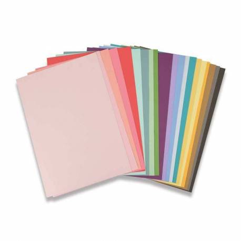 Sizzix, Accessorio Cardstock Sheets - 80 Cartoncini, 20 Colori