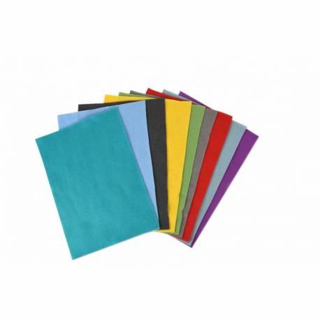 Sizzix, Accessorio Felt Sheets - 10 Fogli in Feltro, Colori accesi