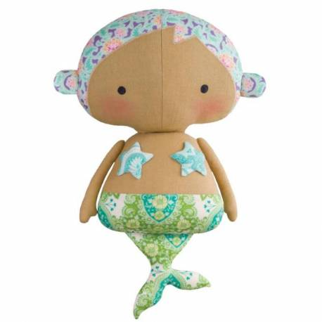 Tilda Sunkiss, Kit di Cucito Sweet Mermaid, Dolce Sirenetta - 32 cm