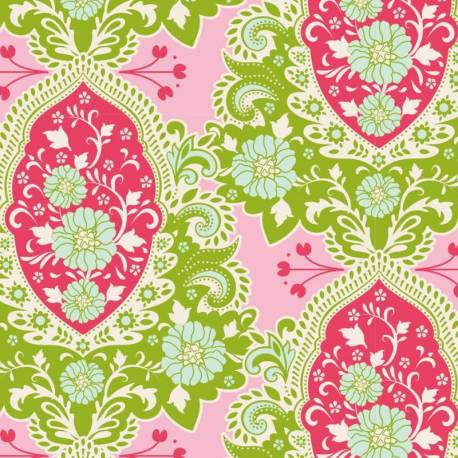 Tilda 110 Sunkiss, Charlotte Pink - Tessuto a Fiori Rosa