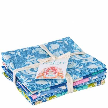 Tilda Sunkiss, Bundle 5 Fat Quarter 50 x 55 cm - Blu e Azzurro