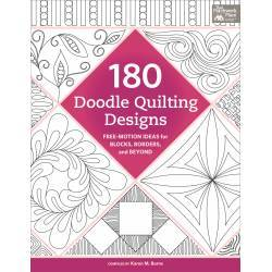 180 Doodle Quilting Designs - Idee Free-Motion per Trapuntare - Martingale - 128 pagine