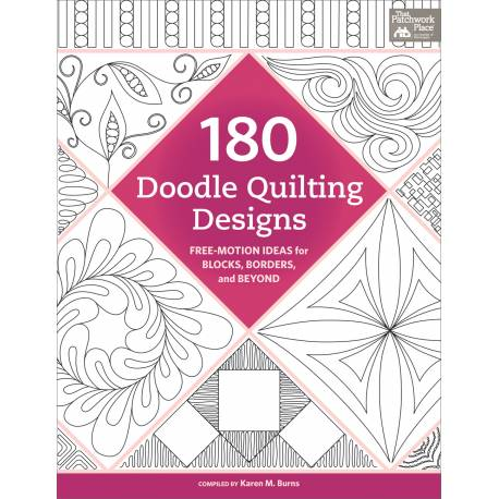 180 Doodle Quilting Designs - Idee Free-Motion per Trapuntare | Martingale - 128 pagine