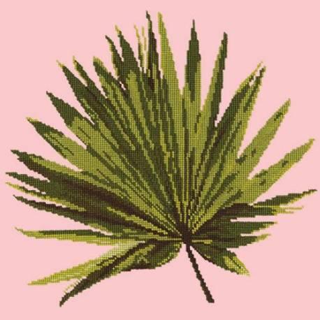 Elizabeth Bradley, Tropicals, FAN PALM LEAF - 16x16 pollici