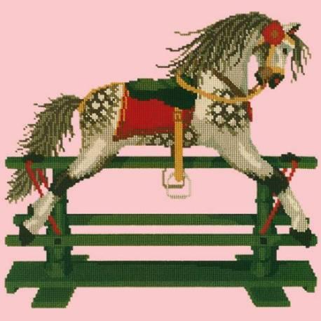Elizabeth Bradley, Childrens Collection, ROCKING HORSE - 16x16 pollici