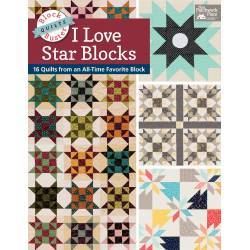 Block-Buster Quilts - I Love Star Blocks - 16 Quilt con la Stella Patchwork