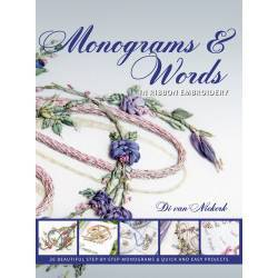 Monograms and Words, in Ribbon Embroidery