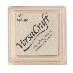 VersaCraft White - Inchiostro Bianco + Spugna per Bambole, Tessuto, Carta, Legno e altro