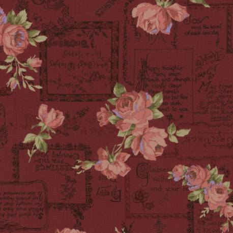 Antique Rose 2018, Tessuto Lecien 31766-30
