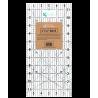 Righello da Patchwork, 6 x 12 pollici - Griglia Nera