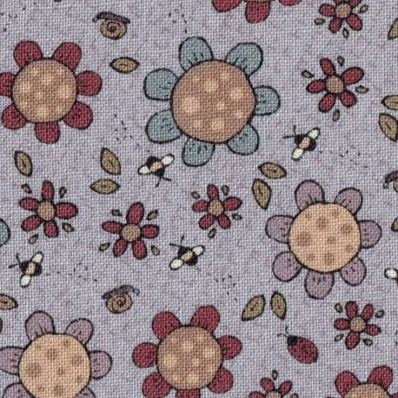 Tessuto Lecien, Sweet Garden of Mine, Moonflower Lavender by Lynette Anderson