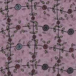 Tessuto Lecien, Sweet Garden of Mine, Flower Vine Amethyst by Lynette Anderson
