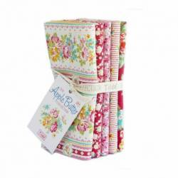 Tilda AppleButter, Bundle 5 Fat Quarter 50 x 55 cm - Rosso e Rosa