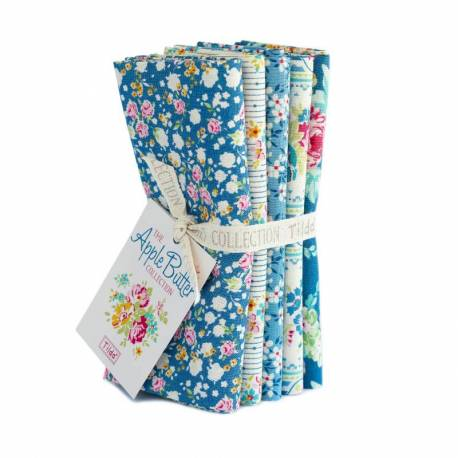 Tilda AppleButter, Bundle 5 Fat Quarter 50 x 55 cm - Blu