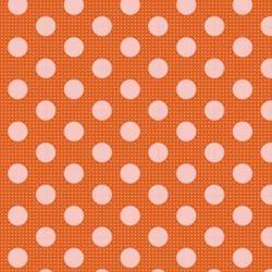 Tilda 110 Medium Dot Basics Ginger - Tessuto Arancione a Pois