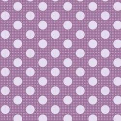 Tilda 110 Medium Dot Basics Liliac - Tessuto Lilla a Pois