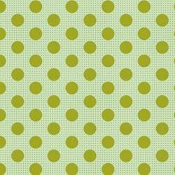 Tilda 110 Medium Dot Basics Green - Tessuto Verde a Pois