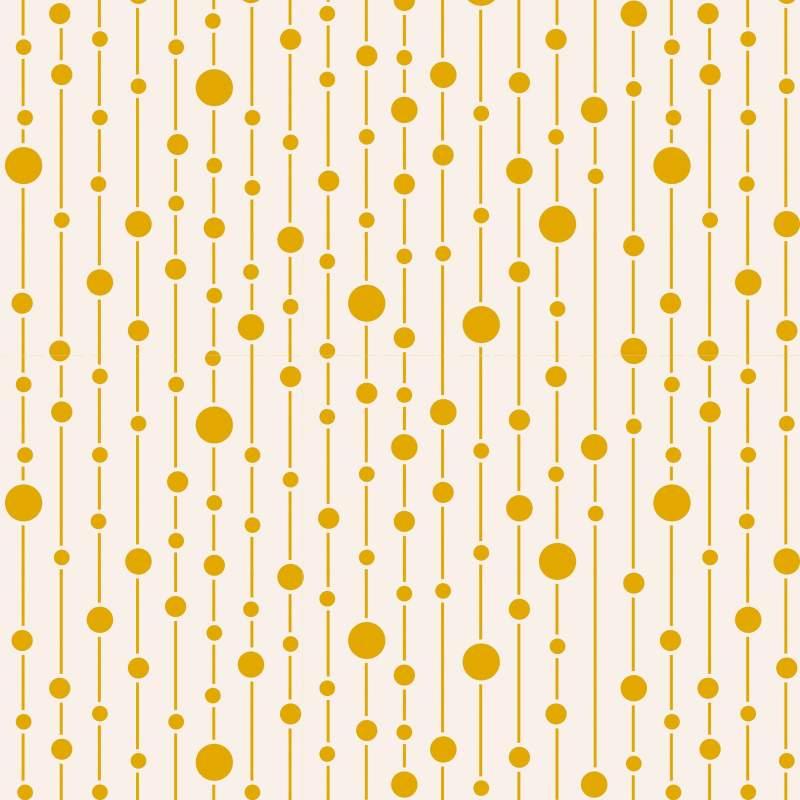 Tilda 110 Pearls Yellow - Tessuto Giallo a Pois