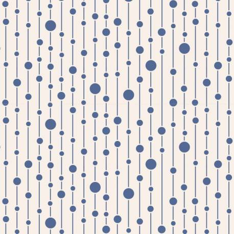 Tilda 110 Pearls Blue - Tessuto Blu a Pois