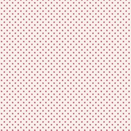 Tilda 110 Classic Basics Tiny Dots Pink - Tessuto Rosa a Micro Pois