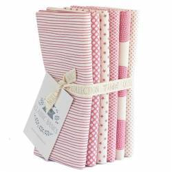 Tilda Classic Basics, Bundle 5 Fat Quarter 50 x 55 cm - Rosa