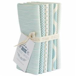 Tilda Classic Basics, Bundle 5 Fat Quarter 50 x 55 cm - Azzurro