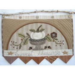 Harvest Blessings - Cartamodello Applique su Lana di Buon Augurio, Kathi Campbell