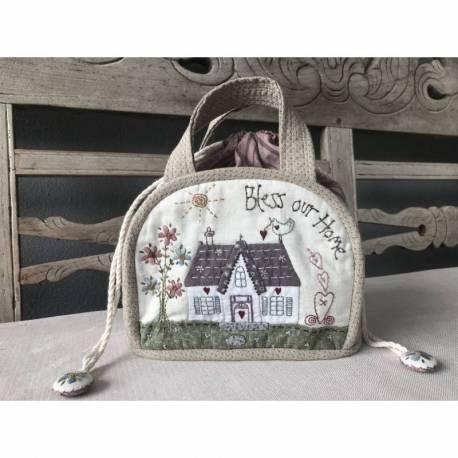Bless our Home Drawstring Bag - Cartamodello Borsetta, Lynette Anderson