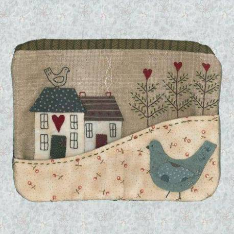 Country Cottage Purse - Cartamodello Astuccio, Lynette Anderson