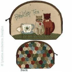 Friendship Tea Pouch - Cartamodello Borsetta, Lynette Anderson