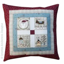 Christmas Friends Pillow - Cartamodello Cuscino, Lynette Anderson