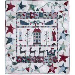 Waiting for Santa Quilt - Cartamodello Quilt di Natale - 56 x 66 pollici, Lynette Anderson