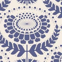 Tilda 110 LazyDays, Phoebe Blue - Tessuto Blu a Fiori