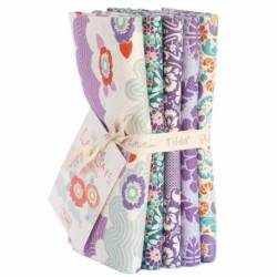 Tilda LazyDays, Lilac Bundle 5 Fat Quarter 50 x 55 cm - Lilla