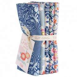 Tilda LazyDays, Blue Bundle 5 Fat Quarter 50 x 55 cm - Blu