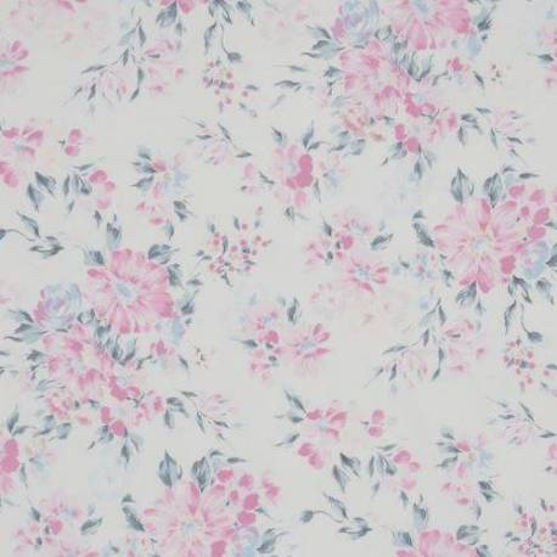 Lecien Natural Elegance, Tessuto Bianco con Fiori Rosa Lecien Corporation - 1