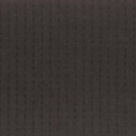 Lecien Yarn Dyed Fabric, Tessuto Grigio Scuro Tinto in Filo