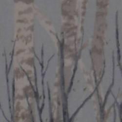 Lecien Centenary Collection 24rd by Yoko Saito, Tessuto Azzurro con Alberi