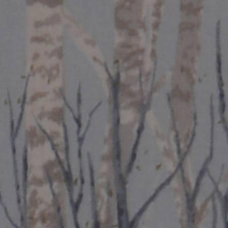 Lecien Centenary Collection 24th by Yoko Saito, Tessuto Azzurro con Alberi