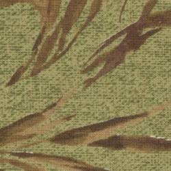 Lecien Centenary Collection 24rd by Yoko Saito, Tessuto Verde con Foglie Marroni