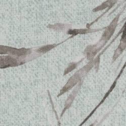 Lecien Centenary Collection 24rd by Yoko Saito, Tessuto Azzurro con Foglie Grigie