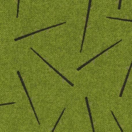 Lecien Centenary Collection 24th by Yoko Saito, Tessuto Verde con Bastoncini Lecien Corporation - 1