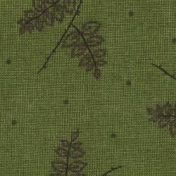 Lecien Centenary Collection 24rd by Yoko Saito, Tessuto Verde Scuro con Rami e Foglie