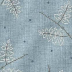Lecien Centenary Collection 24th by Yoko Saito, Tessuto Azzurro con Rami e Foglie