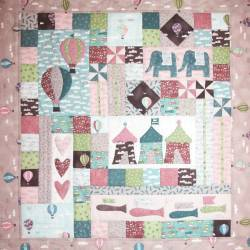 Sweet Dreams - Piccola Trapunta per Bambini 30x32 pollici, The BirdHouse by Natalie Bird