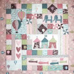 Sweet Dreams - Piccola Trapunta per Bambini 30x32 pollici, The BirdHouse by Natalie Bird