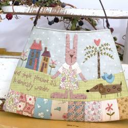 The Wanderer - Cartamodello Borsetta con Animaletti in Applique, The BirdHouse by Natalie Bird