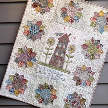 Our Home - Cartamodello Quilt per la Casa in Applique da 30x38 pollici, The BirdHouse by Natalie Bird