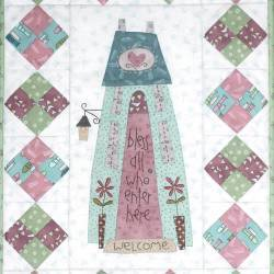 Bless all who Enter - Cartamodello Quilt per Ospiti, The BirdHouse by Natalie Bird